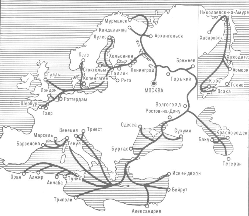 Схема грузовых международных
